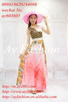 Young ladies summer beach wear new fashion long style maxi chiffon dresses