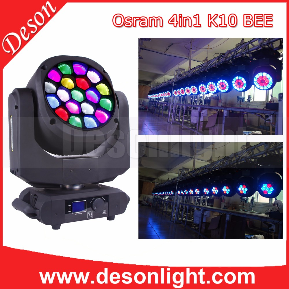19 x 15W Beam+Zoom+Wash dmx led moving head stage light