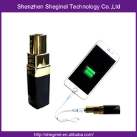 promotion gift lipstick power bank for smartphone