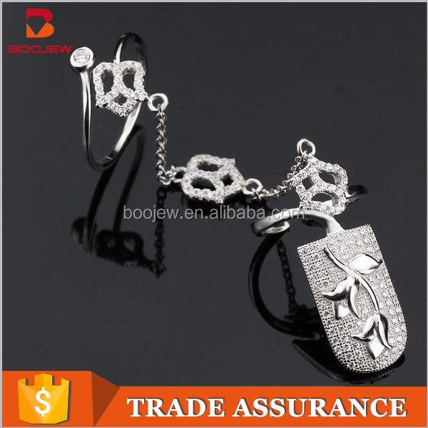 India girl charms jewelry photo latest design 2pc ring for one set new model finger nail rings