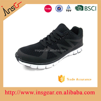 black color mesh and little pu MD or phylon formal sport soft light school shoes