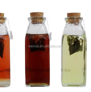 hot sale high quality clear french square glass bottle