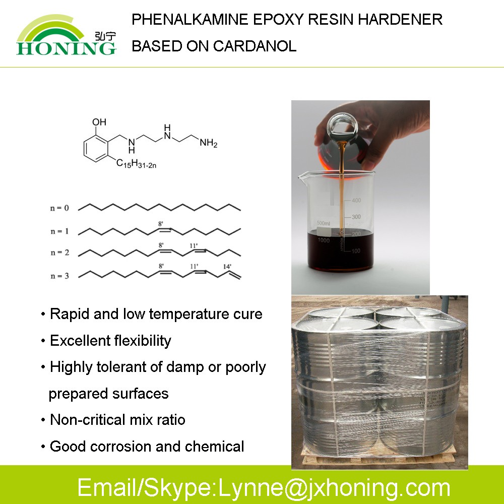 Cardanol Phenalkamines Epoxy Resin Hardener for Epoxy Floor Paint