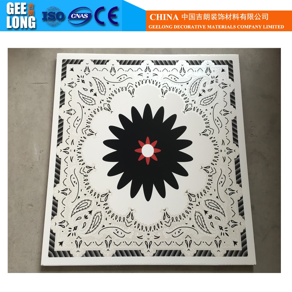 haining supplier print pvc plastic ceiling board