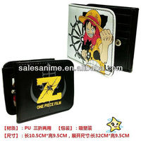 Wholesale Anime One Piece Wallet Luffy Notecase Katekyo Hitman Reborn Wallet Hibari Kyouya Notecase Black Rock Shooter Wallet
