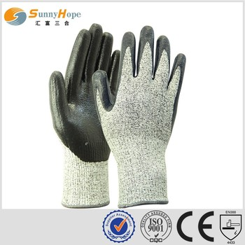 SunnyHope top quality industrial safety products gloves anti-cut resistant gloves