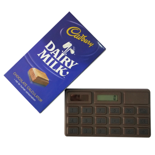 promotional gift calculator with Chocolate smell
