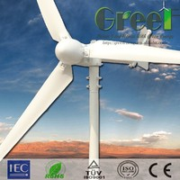300w-10kw Roof mounted wind turbine, small size, low weight wind generator