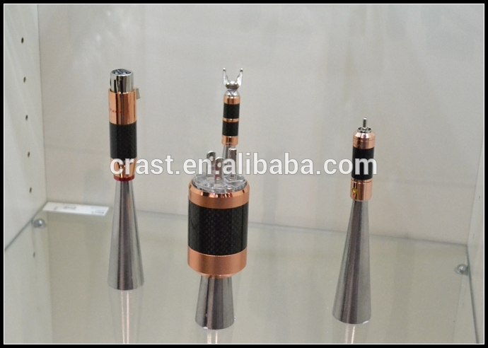 OEM/ODM 24K Gold Plated XLR Balance Audio Plug Male Female Connector Hifi
