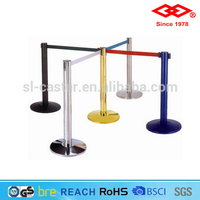 Stainless steel railing stand queue post