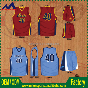 sublimated basketball jersey lastest style with digital printing
