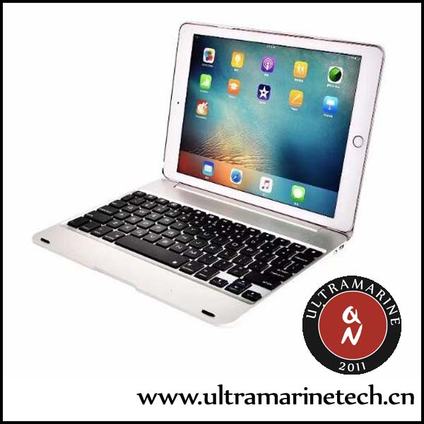 Wireless Bluetooth Alloy Box Super Slim Siamese Case For <strong>iPad</strong> Pro 12.9 Aluminum Keyboard
