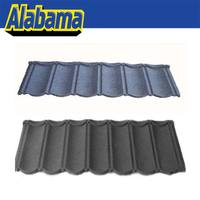 Scientific installation bottom price color sand coated steel roofing tile, roof tiles pictures