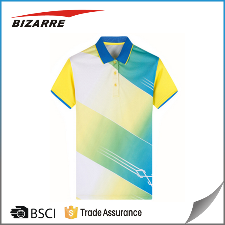 Full sublimation wholesale custom dri fit golf polo shirt