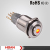 CE RoHS UL 16mm no nc high head central led push button switch