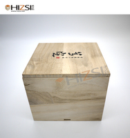 Free Sample Amazing Quality Paulownia Plain Wooden Tea Box Wooden Tea Chest
