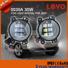 Newest 30w round led fog lamp 4.5'' led fog light covers for Jeep