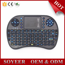 Soyeer 2.4G Wireless Flymouse Rii I8 Back Light Airmouse Tv Remote Control For Skyworth
