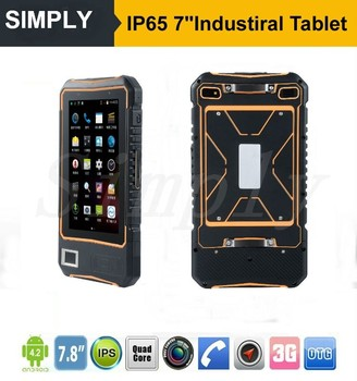 IP65 Rugged Android 4.4 Industrial tablet pc with NFC/RFID/2D/FINGEPRINT/UHF/WIFI/GPS/BT