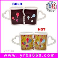 Factory custom hot products wedding thank you gifts for guests color change mugs