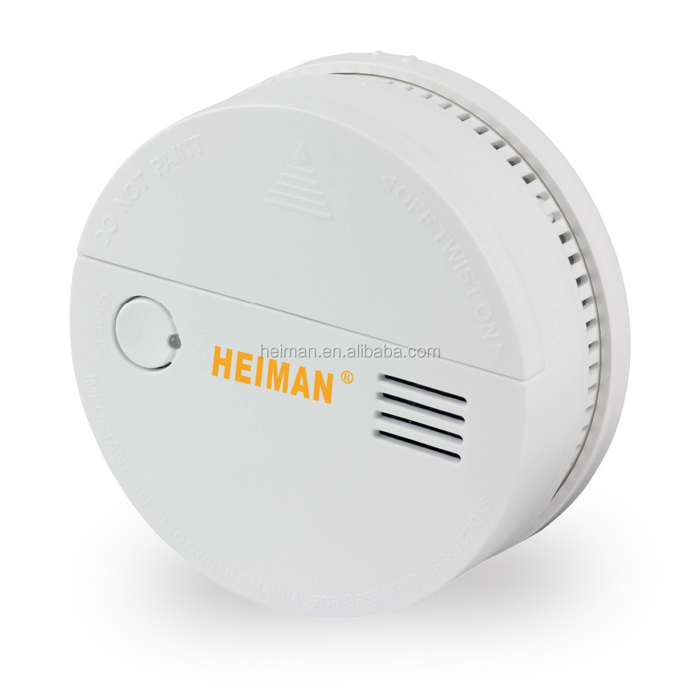 CE Approved Wireless RF Battery Operated Smoke Detector Link 433MHz