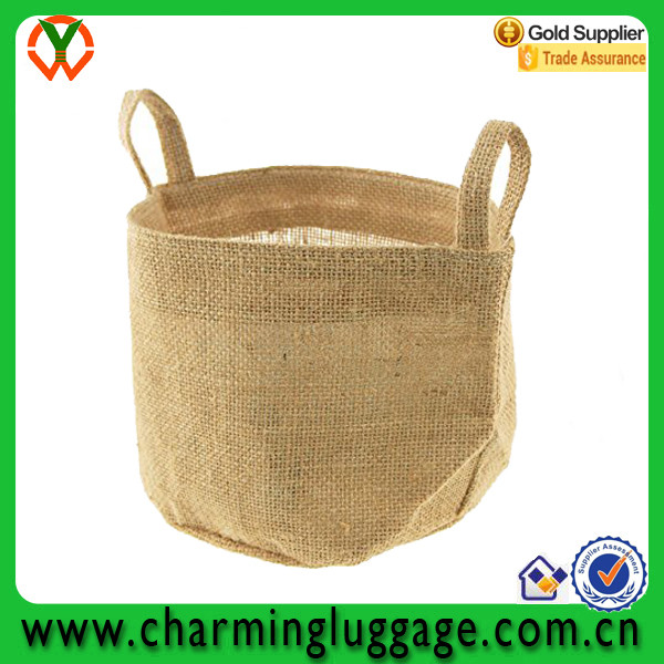 Burlap Basket Storage Jute Basket with handle