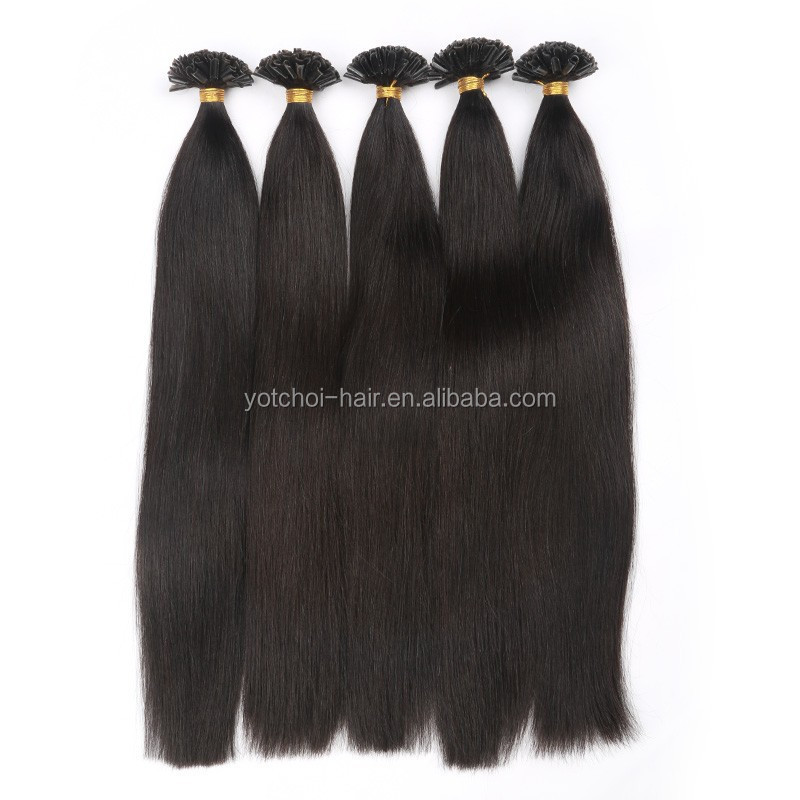 100% Virgin Indian I-tip Remy 1g Human Asian U/I/Flat/V tip Keratin Hair Extensions Factory Price