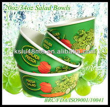 2013 Newly Disposable Paper Container for Salad with Lids