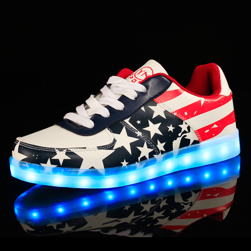 Flashing Adult Luminous Sneakers Rechargeable Led Light Shoes For Men Woman