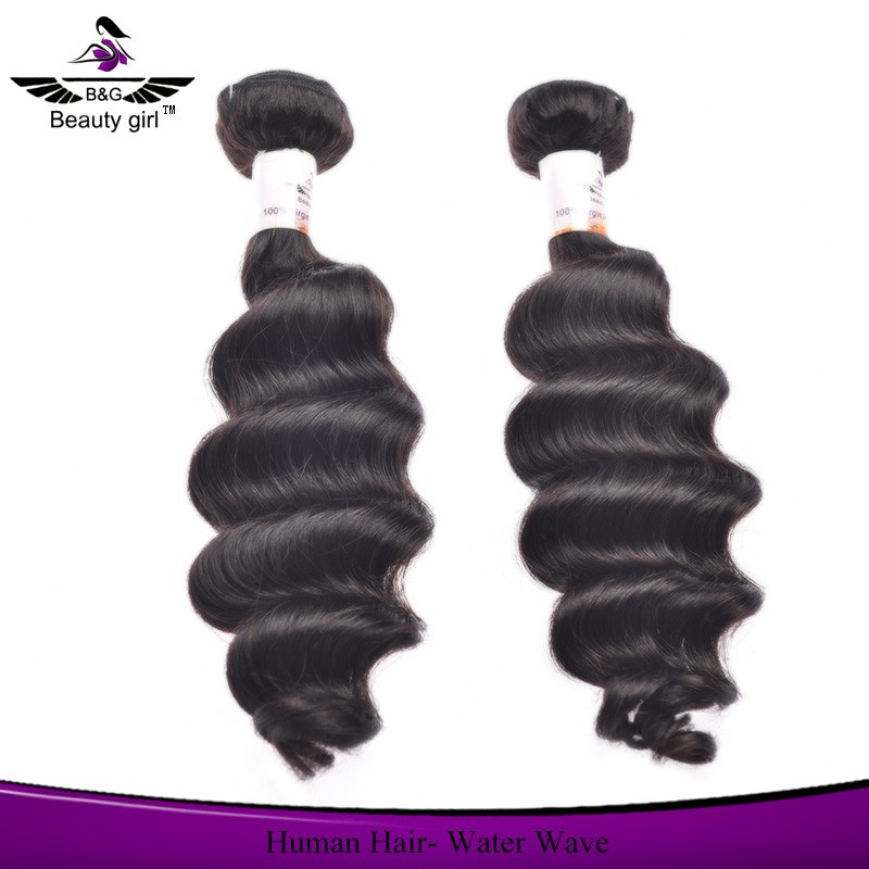 100% natural human hair weaving machine weft black braided hair styles