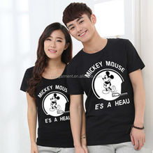 mickey mouse t shirt for couples wholesale cartoon characters printed t shirt