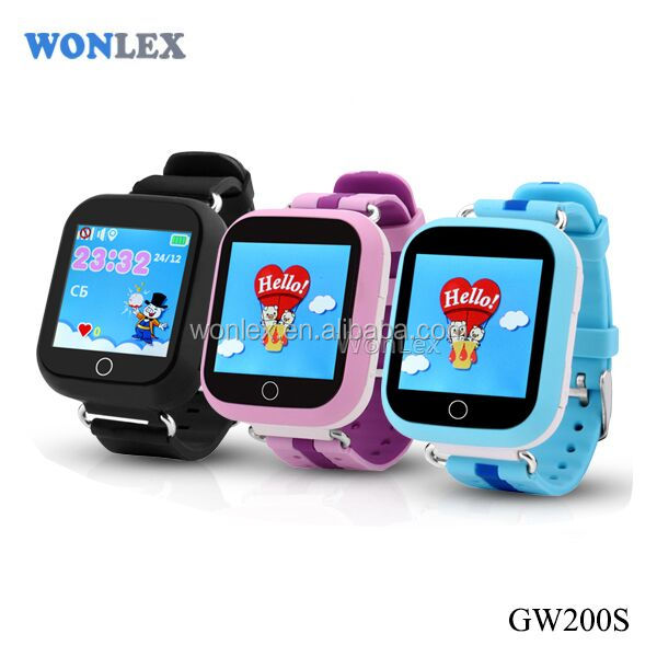 Wonlex GW200S Very HOT Selling New Products kids smart watch phone long battery life gps tracker for kids smartwatch