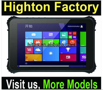 Highton Intel Cherry Trail Z8300 4G Ram DDR 64G EMMC GPS NFC 4G LTE Barcode Scanner Rugged Win Tablet 8 Inch