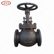 European Style double flange connection ends RF wcb globe valve