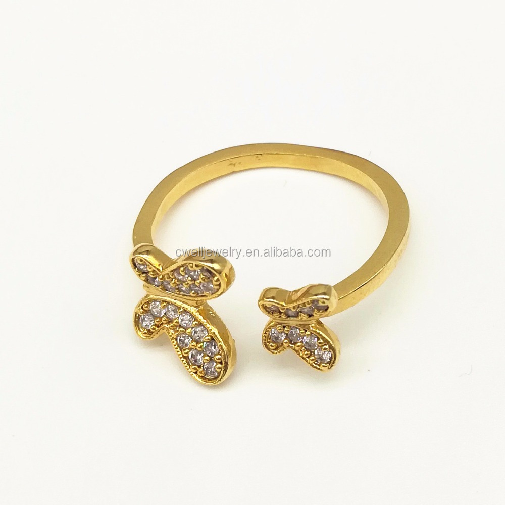 Adjustable Latest 3 Gram Dubai Gold Ring Designs for Girls