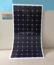 100W Semi Flexible Solar Panel with sun power cell 22% high efficiency