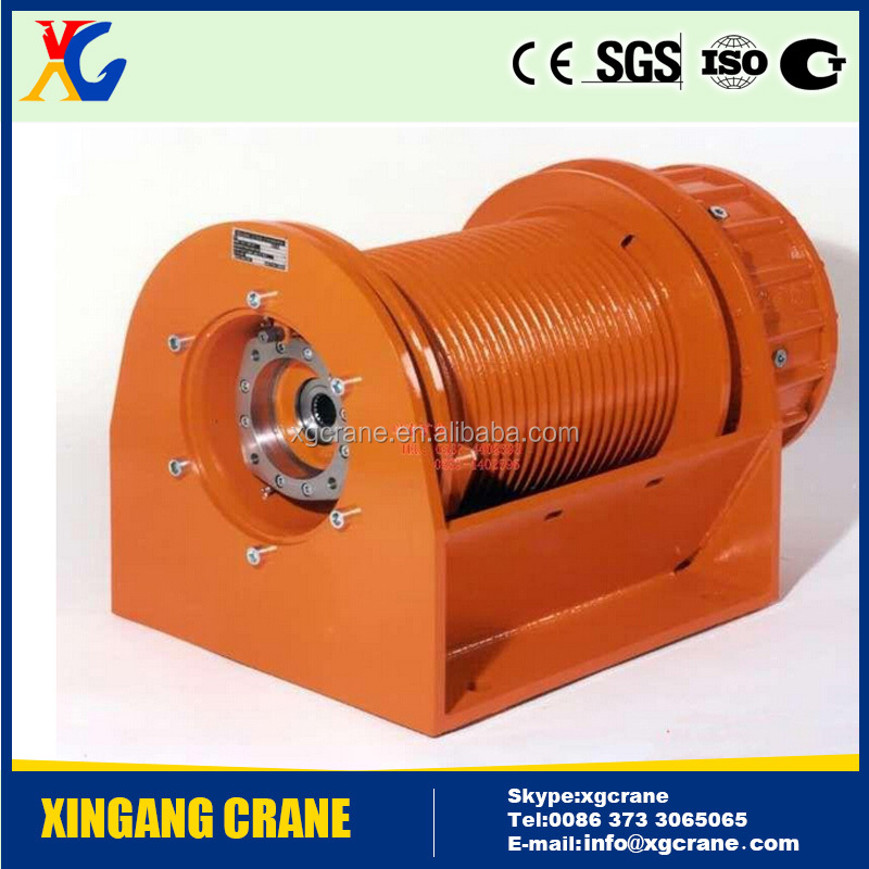 JK Series Fast Line Speed Electric Winch With Drum Brake
