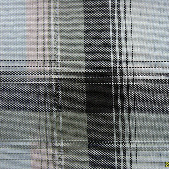 100%polyester balck white check oxford fabric for bags