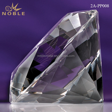 Wholesale Clear Glass Blank Diamond Crystal Paperweight For Wedding Favor Gifts.