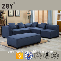 Modern fabric sofa small L shaped corner sofa in living room cheap sofa set