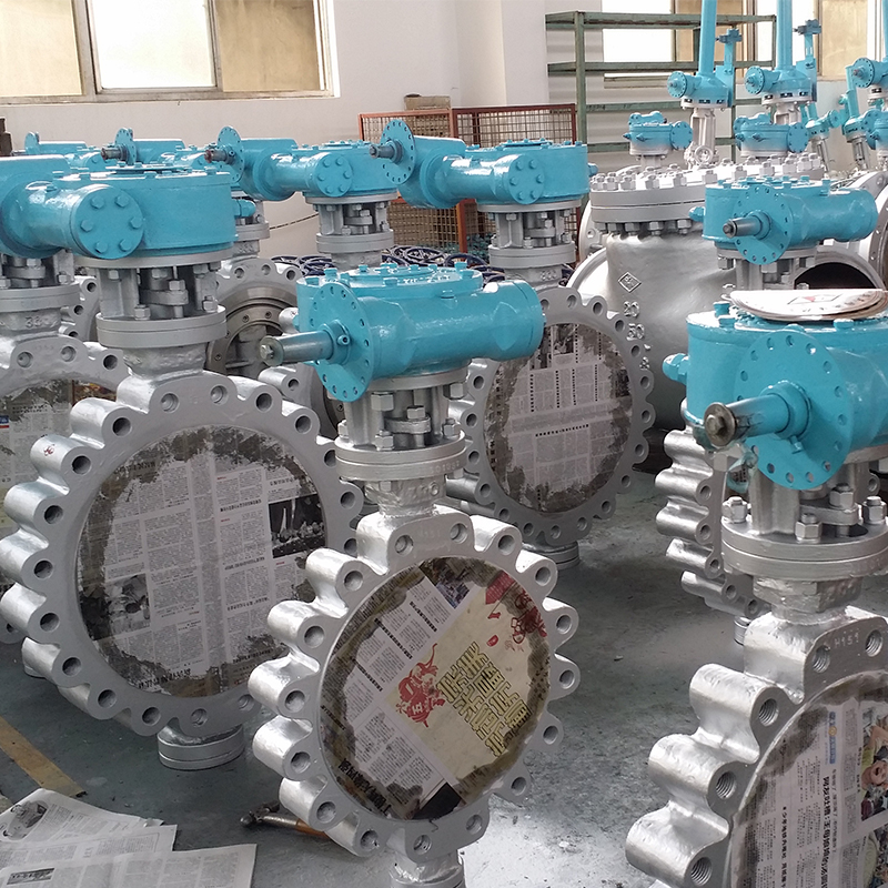 Dn150 Dn300 Lug Type Triple Offset Butterfly Valve