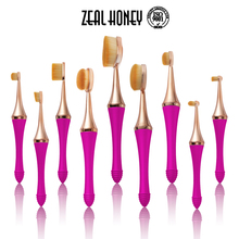Zealhoney Professional Oval Toothbrush Foundation Contour Blending Mermaid Cosmetic Brushes