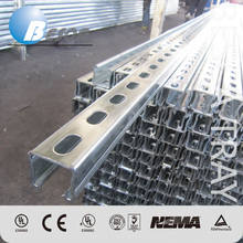 Hot Dip Galvanized Slotted Steel Strut Channel Manufacturer