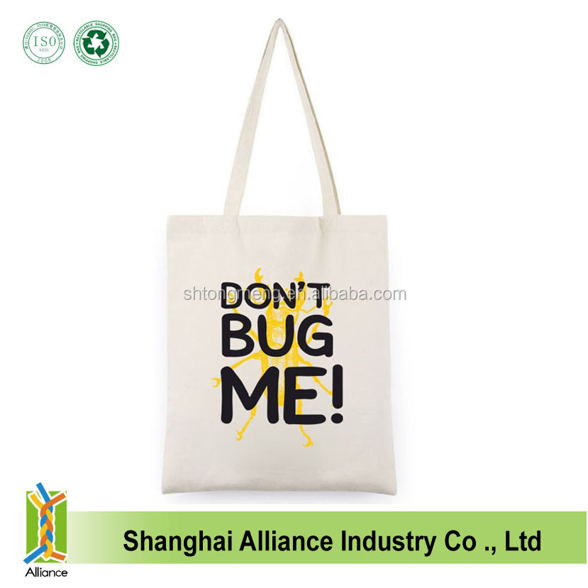 Wholesale ECO Friendly Standard Size Cotton Canvas Tote Bag