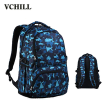 Unisex Printed Fabric Korean Backpack