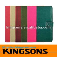 Hot! Fashion design leather case for ipad mini micro-fiber lining,smart cover