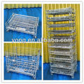 Factory wholesale price wire mesh stackable storage cage container