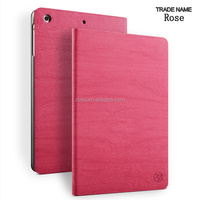 leather material tablet cover and cases for ipad mini, wood waterproof shockproof leather case