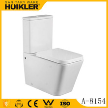 A-8154 Modern white ceramic washroom bathroom toilet, compact chemical toilet