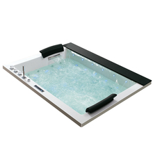HS-BC653 small rectangle drop-in water massage bathtub for adults